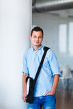 Handsome college student on campus Stock Photo