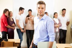 Handsome college student Stock Image
