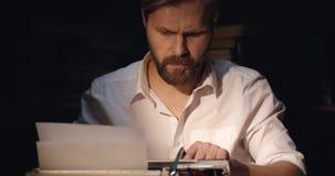 Male Writer Working