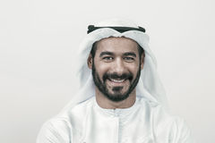 Handsome Confident Arab businessman smiling, Arabian Businessman Stock Photo