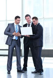 Handsome and confident  business men working at office and plann Royalty Free Stock Image