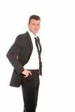Handsome confident businessman Stock Photos