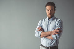 Handsome confident businessman Royalty Free Stock Image