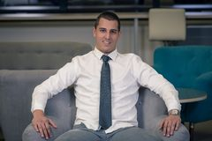Portrait of young successful businessman stock photos
