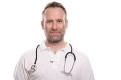 Handsome confident male doctor Stock Image
