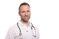 Handsome confident male doctor Royalty Free Stock Image
