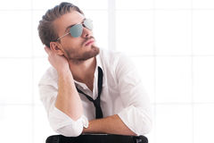 Handsome and confident man. Stock Photos