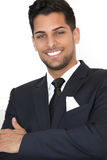 Handsome confident man with a lovely smile Royalty Free Stock Image