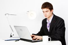 Handsome confident manager Royalty Free Stock Photography