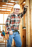 Handsome Construction Worker royalty free stock images