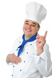 Handsome cook. Portrait of a handsome cook isolated over white Stock Images