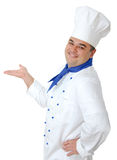 Handsome cook. Portrait of a handsome cook isolated over white Stock Photos