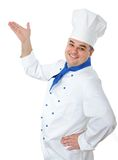 Handsome cook. Portrait of a handsome cook isolated over white Royalty Free Stock Images