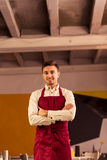 Handsome cook in apron Stock Images