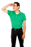 Handsome cool guy looking far away Stock Photography