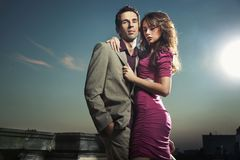 Handsome couple royalty free stock images