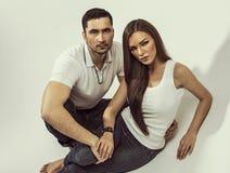 Handsome couple Stock Photos