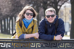 Handsome couple smile Stock Images