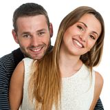 Handsome couple smiling. Royalty Free Stock Photo