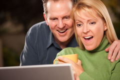 Handsome Couple Using Laptop Royalty Free Stock Photo