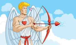 Handsome Cupid Stock Images