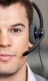 Handsome Customer Service Representative Wearing Royalty Free Stock Photo