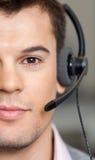 Handsome Customer Service Representative Wearing Royalty Free Stock Photo