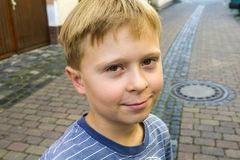 Handsome cute young smiling boy Royalty Free Stock Photo