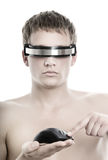 Handsome Cyber Man Stock Photo