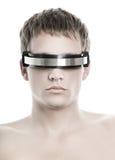 Handsome Cyber Man S Face Stock Photos