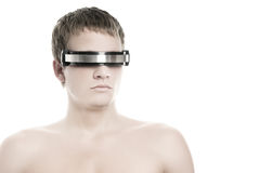 Handsome cyber man's face Stock Photo