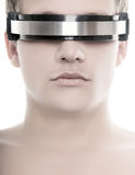 Handsome cyber man's face Royalty Free Stock Image