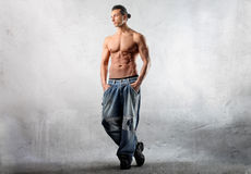 Handsome dancer Stock Photography