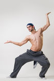 Handsome dancer exercising Royalty Free Stock Photos