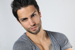 Handsome dark haired man Royalty Free Stock Images