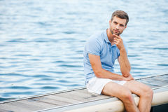 Handsome day dreamer. Stock Photo