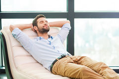 Handsome day dreamer. Royalty Free Stock Photography