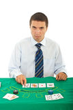 Handsome dealer man Stock Image