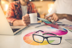 Handsome designers working Royalty Free Stock Images
