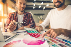 Handsome designers working royalty free stock photo
