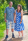Handsome disabled man with his girlfriend stock images