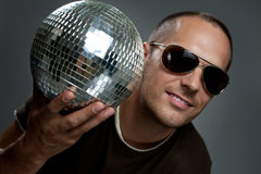 Handsome disco man Stock Photo