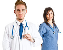 Handsome doctor Stock Images