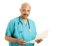 Handsome Doctor with Chart Royalty Free Stock Image