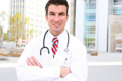 Handsome Doctor at Hospital Royalty Free Stock Image