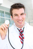 Handsome Doctor at Hospital Stock Images