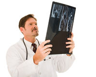 Handsome Doctor with MRI Royalty Free Stock Photos