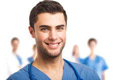 Handsome doctor portrait Royalty Free Stock Images