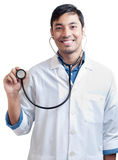 Handsome Doctor with Stethoscope in Hand Royalty Free Stock Photos