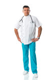 Handsome doctor in work clothing Royalty Free Stock Image